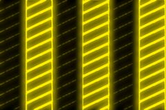 Black Yellow Neon Stripes Stock Photo