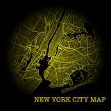 New York City yellow map royalty free stock photo