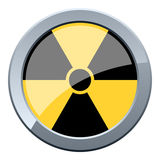 Black & Yellow Nuclear Button Royalty Free Stock Photography