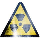 Black and yellow nuclear sign Royalty Free Stock Image