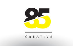 85 Black and Yellow Number Logo Design. Stock Image