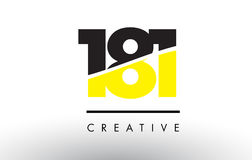181 Black and Yellow Number Logo Design. Royalty Free Stock Photos
