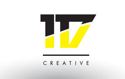 117 Black and Yellow Number Logo Design. 117 Black and Yellow Number Logo Design cut in half Stock Images