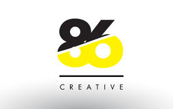 86 Black and Yellow Number Logo Design. 86 Black and Yellow Number Logo Design cut in half Royalty Free Illustration