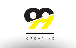99 Black and Yellow Number Logo Design. 99 Black and Yellow Number Logo Design cut in half stock illustration