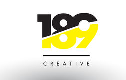 189 Black and Yellow Number Logo Design. 189 Black and Yellow Number Logo Design cut in half stock illustration