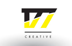 177 Black and Yellow Number Logo Design. 177 Black and Yellow Number Logo Design cut in half stock illustration