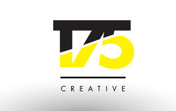 175 Black and Yellow Number Logo Design. 175 Black and Yellow Number Logo Design cut in half Stock Photography