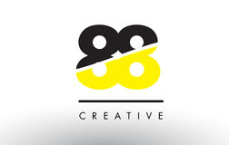 88 Black and Yellow Number Logo Design. 88 Black and Yellow Number Logo Design cut in half Stock Image