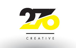 276 Black and Yellow Number Logo Design. 276 Black and Yellow Number Logo Design cut in half Stock Images