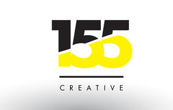 155 Black and Yellow Number Logo Design. 155 Black and Yellow Number Logo Design cut in half Royalty Free Stock Images