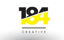 184 Black and Yellow Number Logo Design. Royalty Free Stock Image