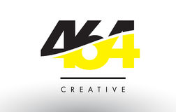 464 Black and Yellow Number Logo Design. Royalty Free Stock Photo