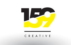 159 Black and Yellow Number Logo Design. Royalty Free Stock Photography