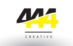 444 Black and Yellow Number Logo Design. Stock Images