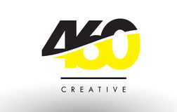 460 Black and Yellow Number Logo Design. 460 Black and Yellow Number Logo Design cut in half Royalty Free Stock Images