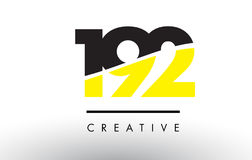 192 Black and Yellow Number Logo Design. 192 Black and Yellow Number Logo Design cut in half Royalty Free Stock Photos