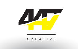 447 Black and Yellow Number Logo Design. Stock Photography