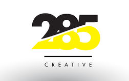 285 Black and Yellow Number Logo Design. Royalty Free Stock Photos