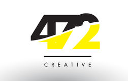 472 Black and Yellow Number Logo Design. 472 Black and Yellow Number Logo Design cut in half royalty free illustration