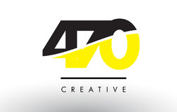 470 Black and Yellow Number Logo Design. 470 Black and Yellow Number Logo Design cut in half Stock Photography