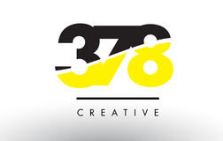378 Black and Yellow Number Logo Design. Royalty Free Stock Photography