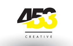453 Black and Yellow Number Logo Design. 453 Black and Yellow Number Logo Design cut in half stock illustration