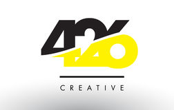 426 Black and Yellow Number Logo Design. 426 Black and Yellow Number Logo Design cut in half royalty free illustration