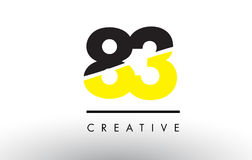 83 Black and Yellow Number Logo Design. 83 Black and Yellow Number Logo Design cut in half stock illustration