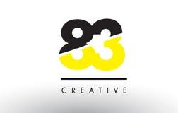 83 Black and Yellow Number Logo Design. Stock Photos