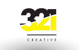 321 Black and Yellow Number Logo Design. 321 Black and Yellow Number Logo Design cut in half Royalty Free Stock Photos