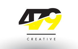 479 Black and Yellow Number Logo Design. Stock Photo