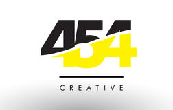 454 Black and Yellow Number Logo Design. Royalty Free Stock Photography