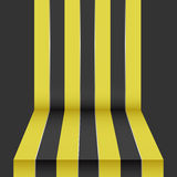 Black yellow perspective background. Template Stock Images