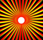 Black yellow red sun. Background Royalty Free Illustration
