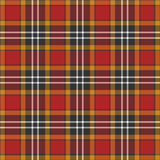 Black, yellow, red and white plaid background Stock Images