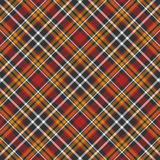 Black, yellow, red and white plaid background Royalty Free Stock Photography