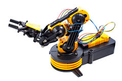 Black and yellow robotic arm Stock Image