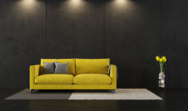 Black and yellow room Royalty Free Stock Photos