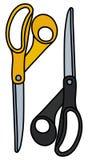 Black and yellow scissors Stock Photography