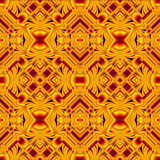 Black and yellow seamless pattern Stock Image