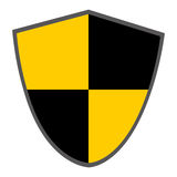 black and yellow shield Royalty Free Stock Photography