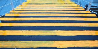 Black and Yellow Stairway Royalty Free Stock Photo