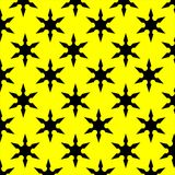 Black and Yellow Star Pattern Royalty Free Stock Photography