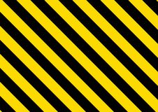 Black and yellow striped background. Vector royalty free illustration