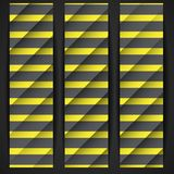 Black And Yellow Striped Background. Stock Photography