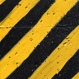 Black and yellow striped caution pattern Royalty Free Stock Photography