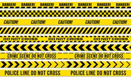 Black and yellow stripes vector police tape vector illustration