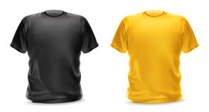 Black and yellow t-shirts Royalty Free Stock Images