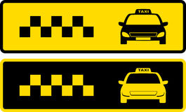 Black and yellow taxi icons Royalty Free Stock Image